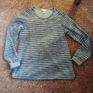 Christopher&banks bluish gray striped sweater/top